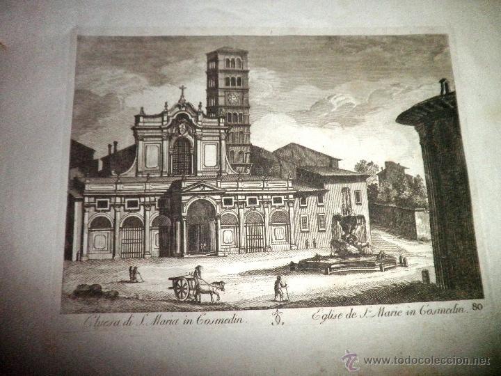 Libros antiguos: EXCEPCIONAL COLECCION DE 23 ANTIGUAS LAMINAS DEL SIGLO XVIII SOBRE ITALIA. - Foto 7 - 39499260