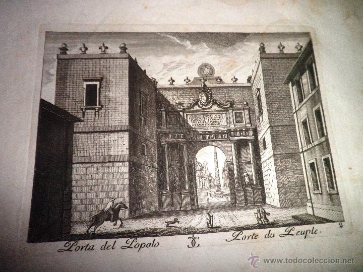 Libros antiguos: EXCEPCIONAL COLECCION DE 23 ANTIGUAS LAMINAS DEL SIGLO XVIII SOBRE ITALIA. - Foto 15 - 39499260