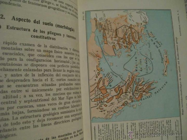 Libros antiguos: Geografía del mediterráneo griego, Otto Maull Ed. Labor. Se.VII;C. Geo. Nº171.(ÑÑ4 - Foto 3 - 39665423