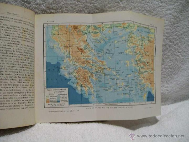 Libros antiguos: Geografía del mediterráneo griego, Otto Maull Ed. Labor. Se.VII;C. Geo. Nº171.(ÑÑ4 - Foto 4 - 39665423
