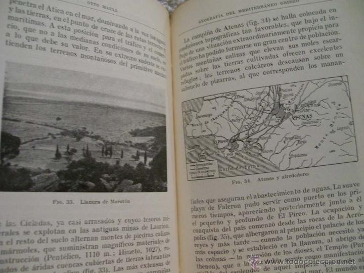 Libros antiguos: Geografía del mediterráneo griego, Otto Maull Ed. Labor. Se.VII;C. Geo. Nº171.(ÑÑ4 - Foto 6 - 39665423