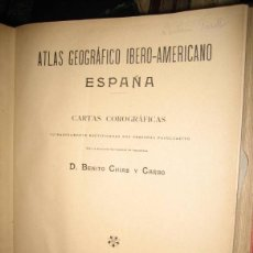 Libros antiguos: ATLAS GEOGRÁFICO DE ESPAÑA CARTAS COROGRÁFICAS (ALBERTO MARTIN, 1901) ESPAÑA Y PORTUGAL. Lote 39919482