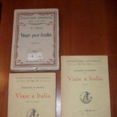 Libros antiguos: VIAJE POR ITALIA, ESPASA CALPE, I,II,III, LEER. Lote 40038881