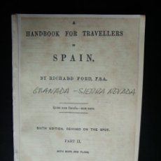 Libros antiguos: 1882-GRANADA. SIERRA NEVADA.PLANO-GRABADO ALHAMBRA Y GENERALIFE. GUIA VIAJES MURRAYS. Lote 40407334