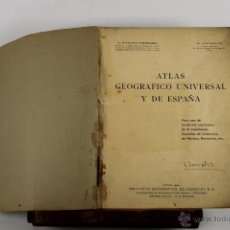 Libros antiguos: 4391- ATLAS GEOGRAFICO UNIVERSAL Y DE ESPAÑA. FRANCISCO CONDEMINAS. EDIT. AGOSTINI. 1935. . Lote 41314847