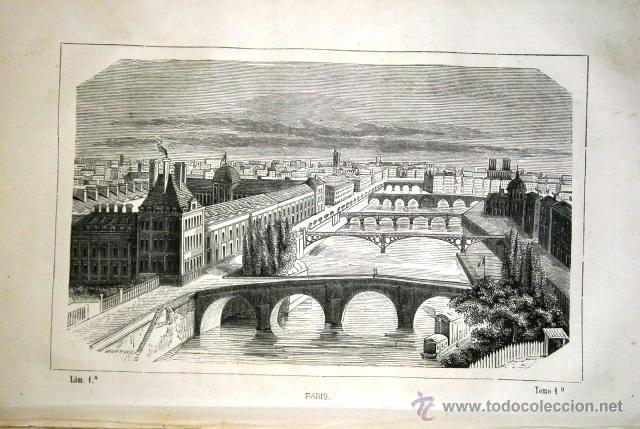 Libros antiguos: La Geografía Universal Tomo 1 por D. M. de R. de Imprenta de Narciso Ramírez en Barcelona 1857 - Foto 3 - 41470552