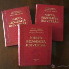 Libros antiguos: NUEVA GEOGRAFIA UNIVERSAL ESPASA CALPE. 3 TOMOS.. Lote 41634572