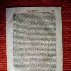 Libros antiguos: 1578-TANGER.JAMAICA.CUBA.PERÚ..HOJA ORIGINAL DE MUNSTER. Lote 42301015