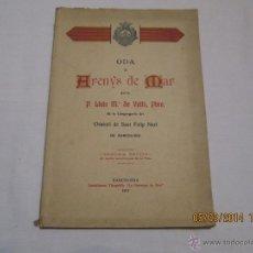 Libros antiguos: ODA A ARENYS DE MAR - P. LLUIS Mª DE VALLS, PBRE. - 1917. Lote 42553661