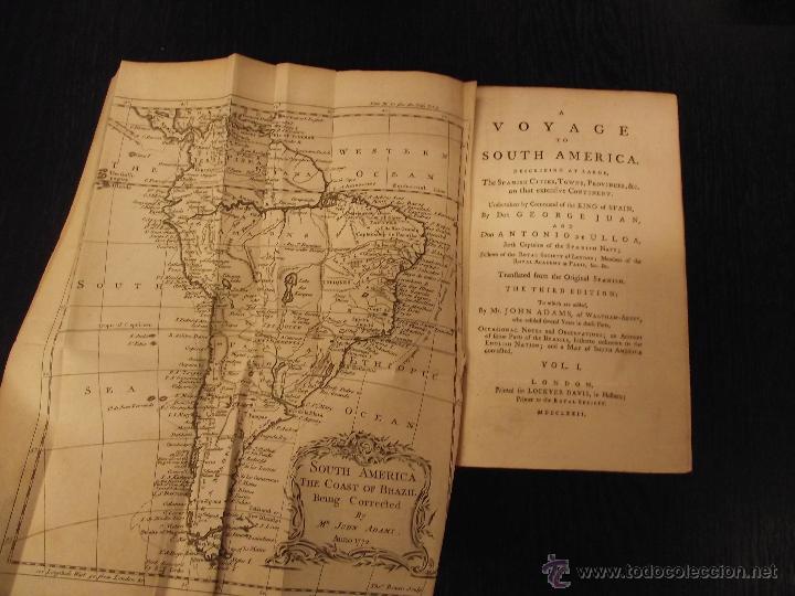 Libros antiguos: A VOYAGE TO SOUTH AMERICA, GEORGE JUAN AND ANTONIO DE ULLOA - Foto 3 - 43919265