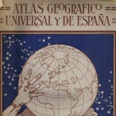 Libros antiguos: ATLAS GEOGRAFICO UNIVERSAL Y DE ESPAÑA - 41 MAPAS - CONDEMINAS - VISINTIN - AGOSTINI - ITALIA 1932 . Lote 44789266