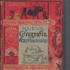 Libros antiguos: NUEVA GEOGRAFÍA UNIVERSAL, ELISEO RECLUS, TOMO I, MADRID EL PROGRESO EDITORIAL 1890. Lote 45510377
