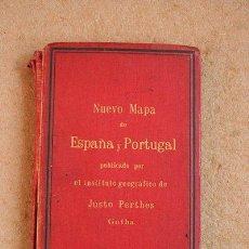 Libros antiguos: NUEVO MAPA DE ESPAÑA Y PORTUGAL PUBLICADO POR EL INSTITUTO GEOGRÁFICO DE JUSTO PERTHES. . Lote 46353969