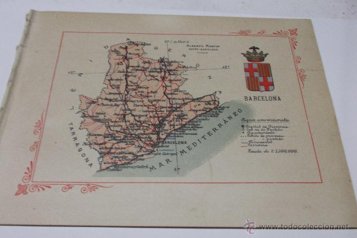 PORTFOLIO FOTOGRAFICO DE ESPAÑA. BARCELONA 2 HOJAS DE TEXTO, 1 MAPA Y 16 FOTOGRAFÍAS. AÑOS 30. FALTO (Libros Antiguos, Raros y Curiosos - Geografía y Viajes)
