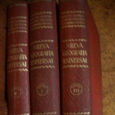 Libros antiguos: NUEVA GEOGRAFIA UNIVERSAL,ESPASA 1929, 3 VOLS COMPLETA CON MAPAS. Lote 46691445