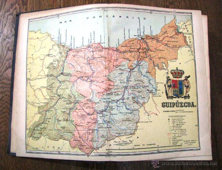 Libros antiguos: ANTIGUA GEOGRAFIA GRAL PAIS VASCO NAVARRO GUIPUZCOA SERAPIO MUGICA ALBERTO MARTIN BARCELONA C 1900 - Foto 12 - 47058113