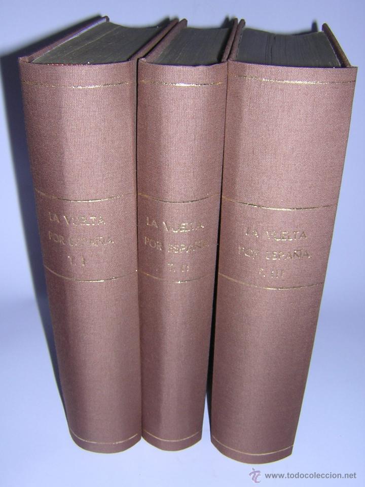 1872 - LA VUELTA POR ESPAÑA - VIAJE HISTÓRICO, GEOGRÁFICO Y CIENTÍFICO - 3 TOMOS - GRABADOS (Libros Antiguos, Raros y Curiosos - Geografía y Viajes)