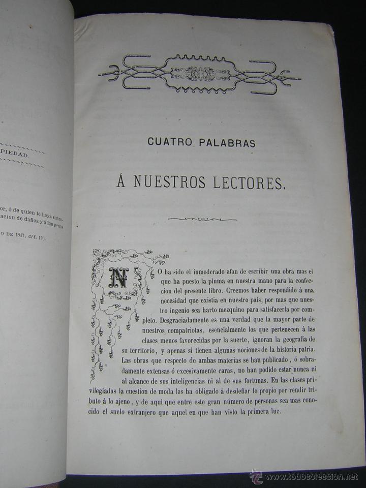 Libros antiguos: 1872 - LA VUELTA POR ESPAÑA - VIAJE HISTÓRICO, GEOGRÁFICO Y CIENTÍFICO - 3 TOMOS - GRABADOS - Foto 4 - 48181551