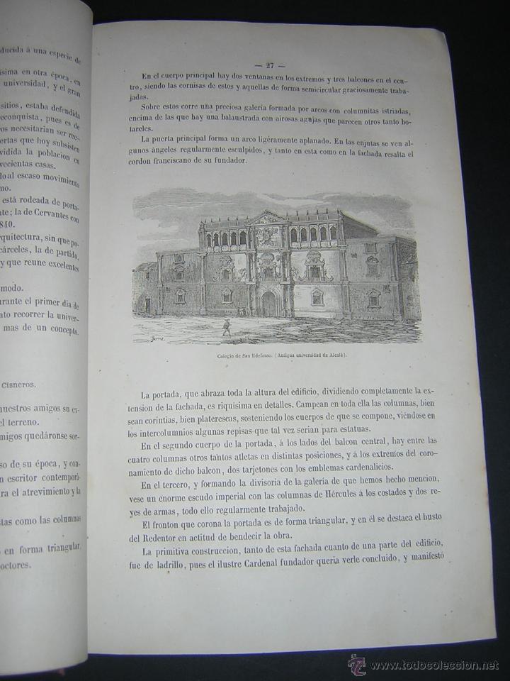 Libros antiguos: 1872 - LA VUELTA POR ESPAÑA - VIAJE HISTÓRICO, GEOGRÁFICO Y CIENTÍFICO - 3 TOMOS - GRABADOS - Foto 6 - 48181551