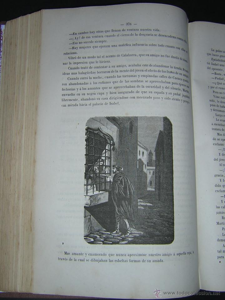 Libros antiguos: 1872 - LA VUELTA POR ESPAÑA - VIAJE HISTÓRICO, GEOGRÁFICO Y CIENTÍFICO - 3 TOMOS - GRABADOS - Foto 9 - 48181551