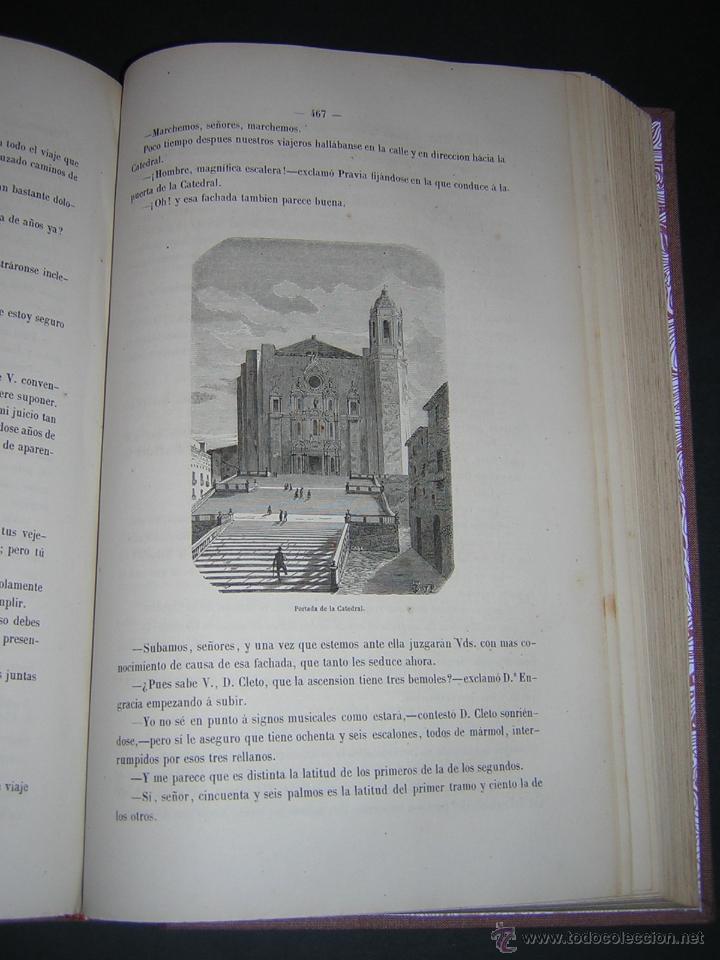 Libros antiguos: 1872 - LA VUELTA POR ESPAÑA - VIAJE HISTÓRICO, GEOGRÁFICO Y CIENTÍFICO - 3 TOMOS - GRABADOS - Foto 12 - 48181551