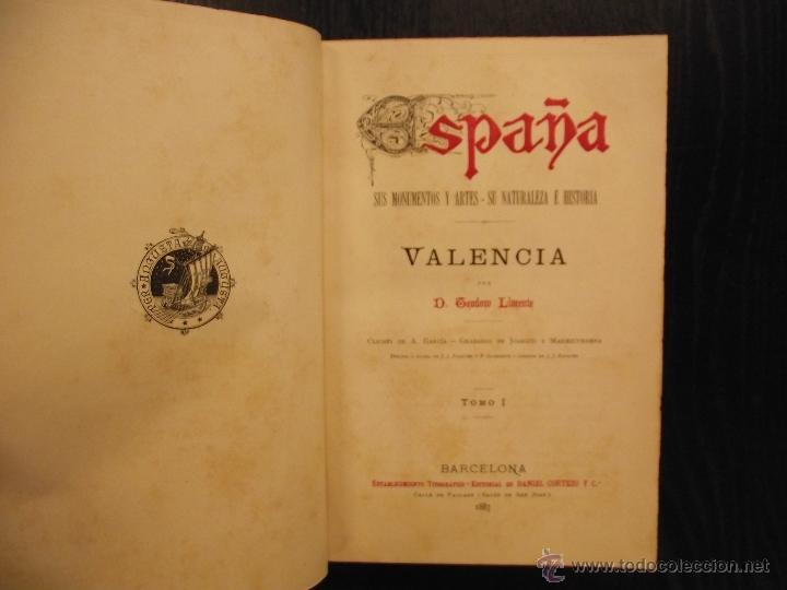Libros antiguos: VALENCIA, TEODORO LLORENTE, 1887 - Foto 2 - 48203175