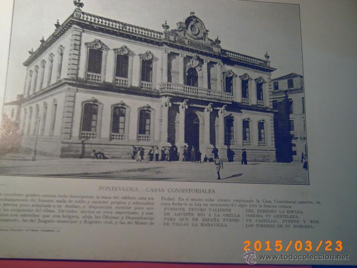 Libros antiguos: PORTFOLIO GALICIA-PEDRO FERRER 1904-FASCICULO SERIE 2ª-CUADERNO Nº 17-20/03/1913- FOTOGRABADADOS - Foto 3 - 48604041