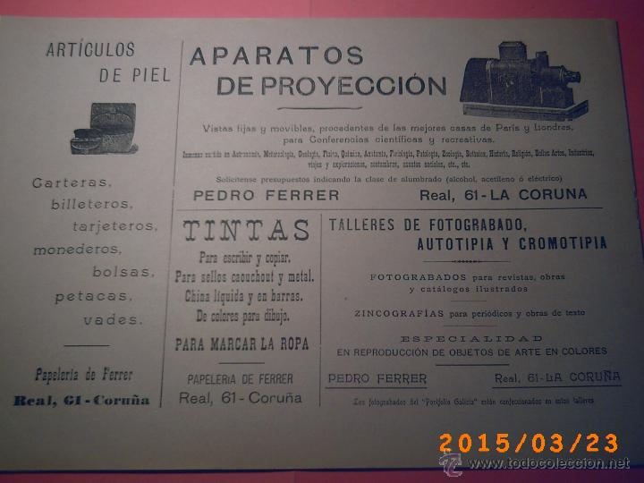 Libros antiguos: PORTFOLIO GALICIA-PEDRO FERRER 1904-FASCICULO SERIE 2ª-CUADERNO Nº 17-20/03/1913- FOTOGRABADADOS - Foto 16 - 48604041