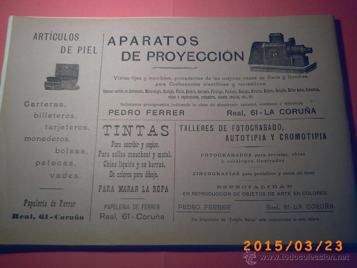 Libros antiguos: PORTFOLIO GALICIA-PEDRO FERRER 1904-FASCICULO SERIE 2ª-CUADERNO Nº 10-20/01/2011 FOTOGRABADADOS - Foto 17 - 48604208