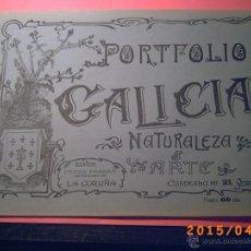 Libros antiguos: PORTFOLIO GALICIA-PEDRO FERRER 1904-FASCICULO SERIE 1ª-CUADERNO Nº 21- FOTOGRABADADOS. Lote 48800170