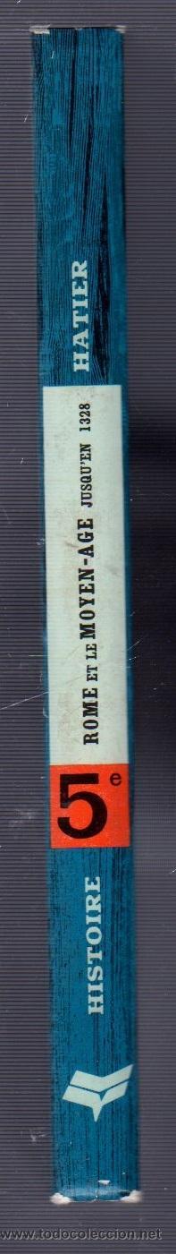 Libros antiguos: ROME & LEMOYEN-AGE. JUSQUÉN 1328. PROGRAMME 1963.COLLECTION D´HISTORIE HATIER 5e - Foto 3 - 49630054