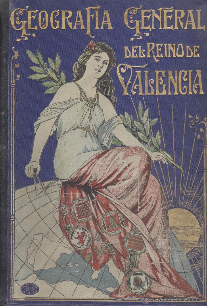 Libros antiguos: Varios. Reino de Valencia. Geografía General del Reino de Valencia. Barcelona, c. 1919. - Foto 2 - 50388269