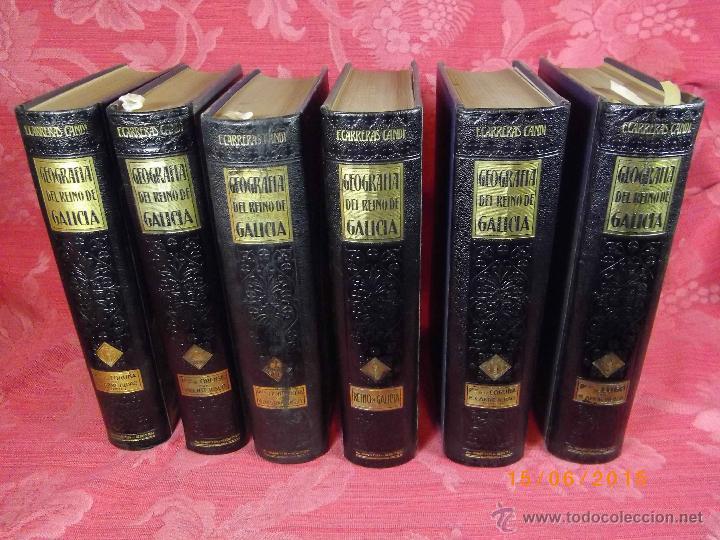 Libros antiguos: Geografía General del Reino de Galícia. completa 6 tomos. Carreras y Candi. Excelente estado. - Foto 2 - 50738883
