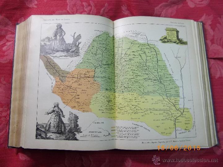 Libros antiguos: Geografía General del Reino de Galícia. completa 6 tomos. Carreras y Candi. Excelente estado. - Foto 4 - 50738883