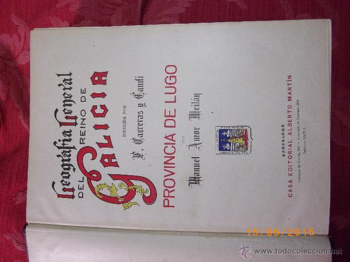 Libros antiguos: Geografía General del Reino de Galícia. completa 6 tomos. Carreras y Candi. Excelente estado. - Foto 7 - 50738883