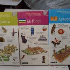 Libros antiguos: LOTE GUIAS TURISTICAS DE VIAJE ARAGON NAVARRA LA RIOJA NUEVOS IMPECABLES. Lote 51194430