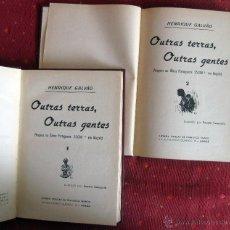 Libros antiguos: HENRIQUE GALVÃO. OUTRAS TERRAS, OUTRAS GENTES. 1934. Lote 51323693