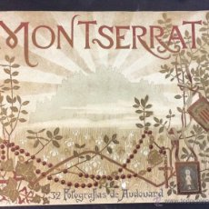 Libros antiguos: MONTSERRAT. 32 FOTOGRAFÍAS DE AUDOUARD. 28 X 35 CM.. Lote 51693178