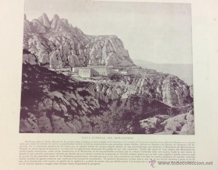Libros antiguos: MONTSERRAT. 32 FOTOGRAFÍAS DE AUDOUARD. 28 X 35 CM. - Foto 2 - 51693178