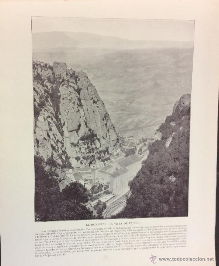 Libros antiguos: MONTSERRAT. 32 FOTOGRAFÍAS DE AUDOUARD. 28 X 35 CM. - Foto 6 - 51693178
