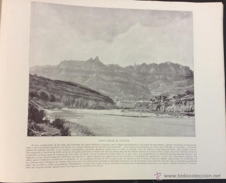Libros antiguos: MONTSERRAT. 32 FOTOGRAFÍAS DE AUDOUARD. 28 X 35 CM. - Foto 7 - 51693178