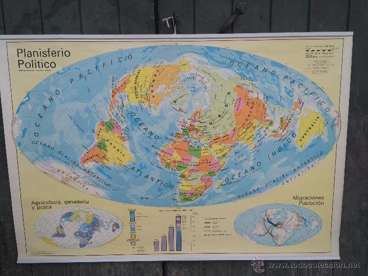 mapa mundo escolar antiguo mapa mundi escolar procedente de escuel   Comprar Libros  mapa mundo escolar