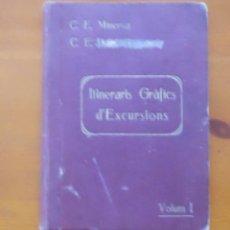 Libros antiguos: CATALUÑA, ITINERARIS GRAFICS D¨EXCURSIONS, MINERVA, EX LIBRIS. Lote 52157060