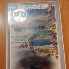 Libros antiguos: COMPAÑIA TRASANTLANTICA.VAPORES Y CORREOS ESPAÑOLELAS.COSTAS Y CIUDADES MARITIMAS DE ESPAÑA 1913-14. Lote 52695327