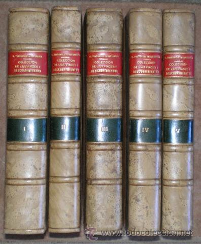 FERNANDEZ DE NAVARRETE, MARTÍN: COLECCION DE LOS VIAGES Y DESCUBRIMIENTOS ... ESPAÑOLES... 1ª ED. (Libros Antiguos, Raros y Curiosos - Geografía y Viajes)