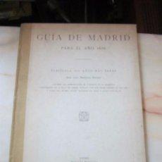 Libros antiguos: - GUÍA DE MADRID PARA EL AÑO 1656 - POR D. LUÍS MARTÍNEZ KLEISER. EDIC. 1926. Lote 53375785