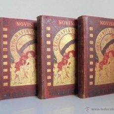 Libros antiguos: NOVISIMA GEOGRAFIA UNIVERSAL. RAFAEL SALVATELLA EDITOR 1886-1888-1888. TOMOS II-III-IV. VER FOTOS.. Lote 53385569