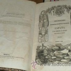Libros antiguos: DICCIONARIO GEOGRÁFICO ESTADÍSTICO - HISTÓRICO DE ESPAÑA Y SUS POSESIONES EN ULTRAMAR, TOMO XIII. Lote 53543547