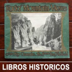 Libros antiguos: ROCKY MOUNTAIN VIEWS, 1936, 29 X 24 CM. Lote 54374381