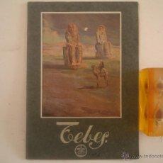 Libros antiguos: TEBES. PUBLICACIONS BIBLIA DE MONTSERRAT.1930.FOLIO.MUY ILUSTRADO.VIAJES ANTIGUOS. Lote 54422934